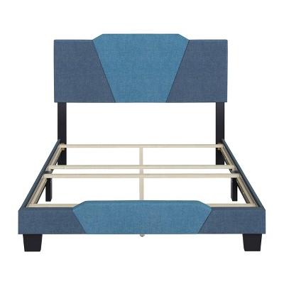Sydney Two-Tone Linen Upholstered Platform Bed - Eco Dream