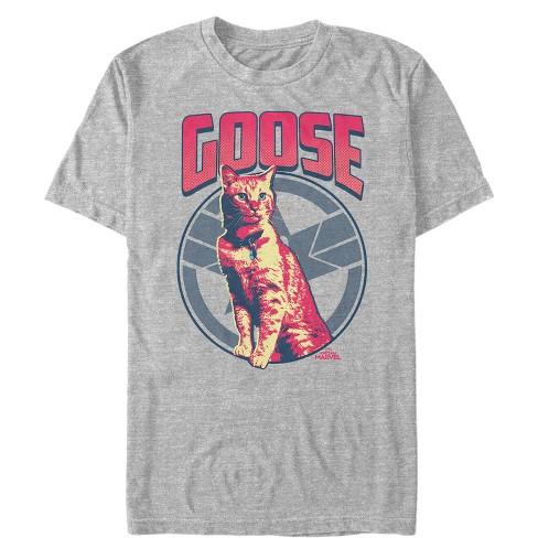 Men's Marvel Captain Marvel Goose Cat Badge T-Shirt - image 1 of 1