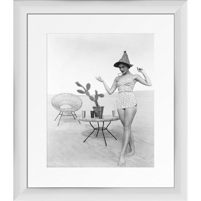 """13"""" x 15"""" Photo Noir Framed Wall Art White - PTM Images"""