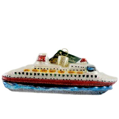"Old World Christmas 1.75"" Cruise Ship Boat Carnival  -  Tree Ornaments"