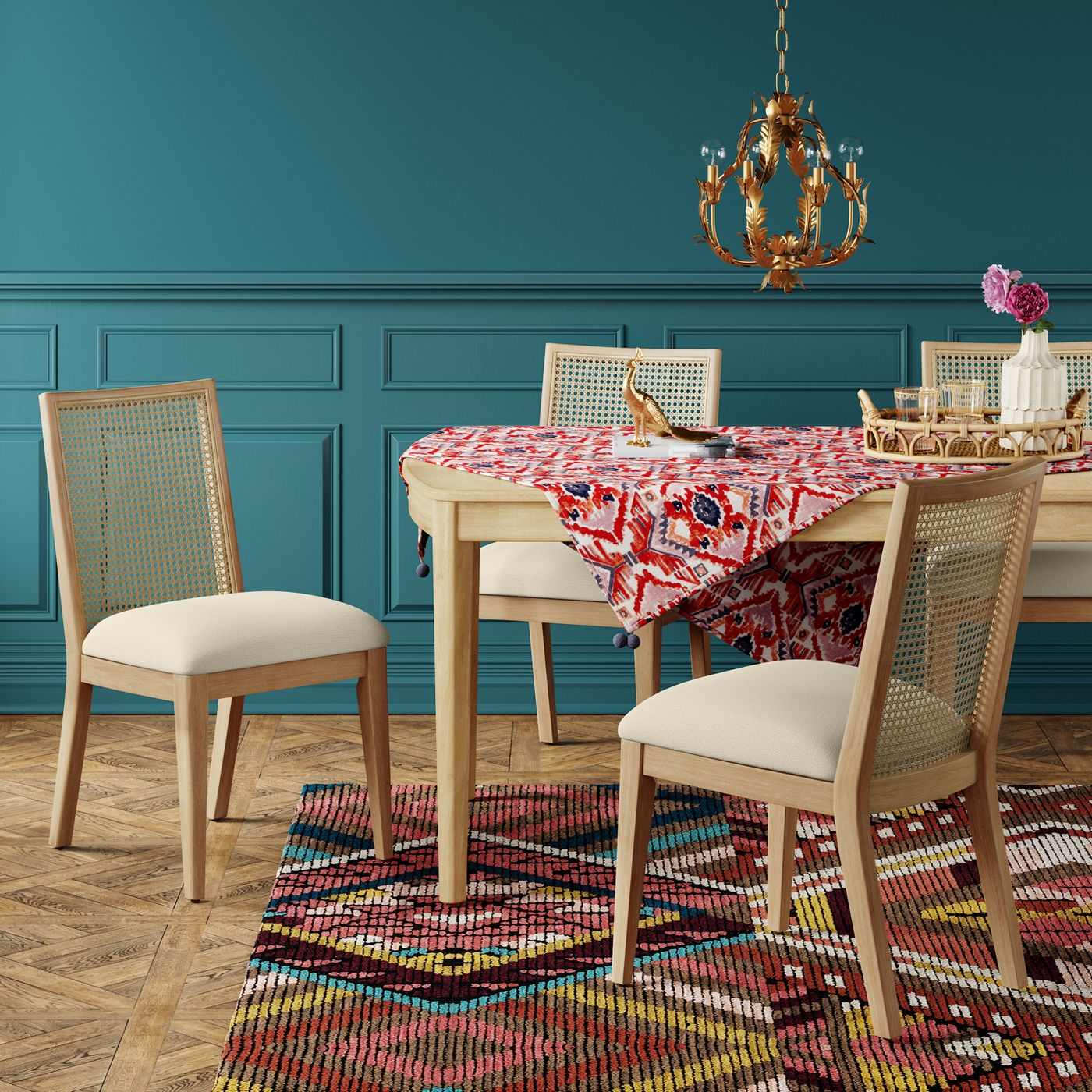 Corella Cane and Wood Dining Chair - Opalhouse™ - image 2 of 5
