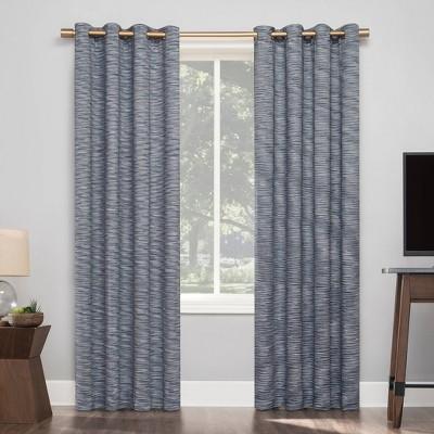 Kamali Textured Strie Thermal Extreme Blackout Grommet Top Curtain Panel - Sun Zero