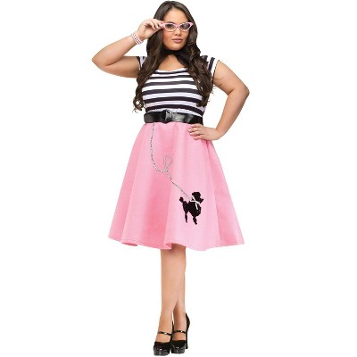 Fun World Poodle 50's Dress Plus Size Costume