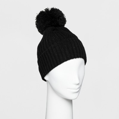 5d54ad1fc73 Women s Ribbed Cuff Pom Beanie - A New Day™   Target