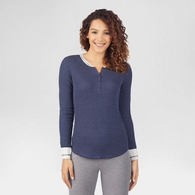 cdf01e2a80d6e0 Warm Essentials® by Cuddl Duds® Women s Waffle Thermal Henley