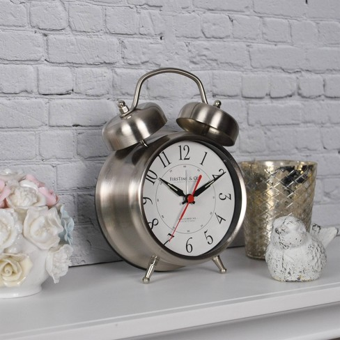 Firstime & Co. Silver Twin Bell Tabletop Clock - image 1 of 3