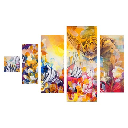 'Key Largo' by Palacios Ready to Hang Multi Panel Art Set - image 1 of 1