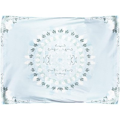"""Juvale Light Blue Bohemian Mandala Wall Hanging Tapestry, Floral Tapestries Wall Decor 59""""x80"""""""