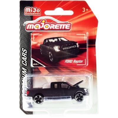 "Ford Raptor F150 Pickup Truck Matt Black ""Premium Cars"" 1/72 Diecast Model Car by Majorette"