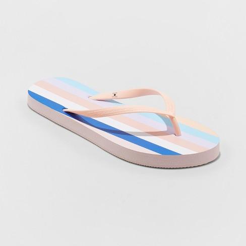 9ad513ccf79 Women s Sara Stripe Flip Flops - Shade   Shore™ Blush 7   Target