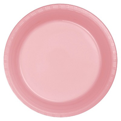 "Classic Pink 9"" Plastic Plates - 20ct"