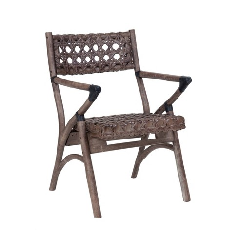 Alan Arm Chair Brown - East At Main - image 1 of 4