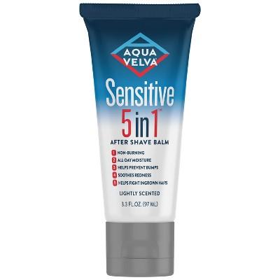 Aqua Velva Sensitive 5 in 1 After Shave Balm - 3.3 fl oz