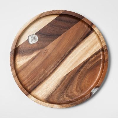 Round Acacia Wooden Serving Platter - Threshold™