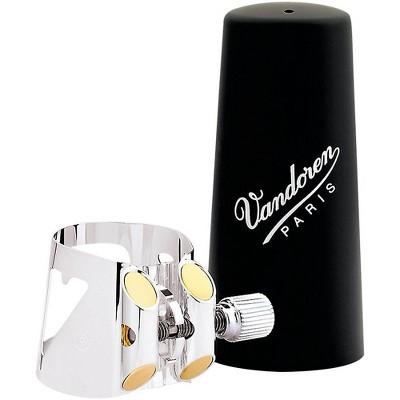 Vandoren Optimum Bass Clarinet Silver-plated Ligature & Plastic Cap Bass Clarinet - Silver-Plated with Plastic Cap