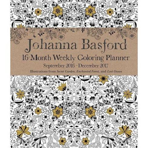 Johanna Basford 2016-2017 Coloring Weekly Planner Calendar - image 1 of 2