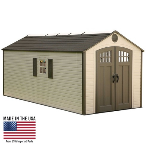 Outdoor Storage Shed 8' x 17.5' - Desert Sand - Lifetime - image 1 of 8