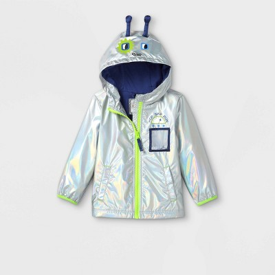 Toddler Boys' Alien Windbreaker Jacket - Cat & Jack™ Silver