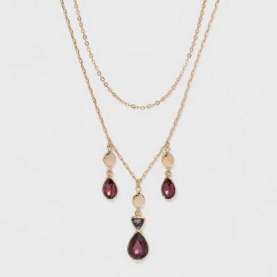 Two Row Stone Necklace - A New Day™