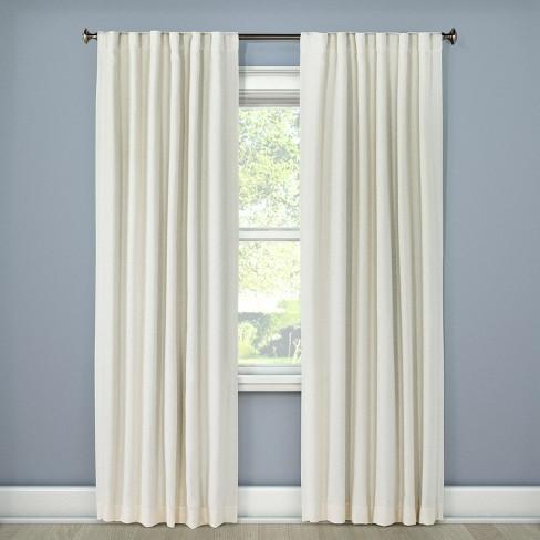 Linen Look Lightblocking Curtain Panel Threshold