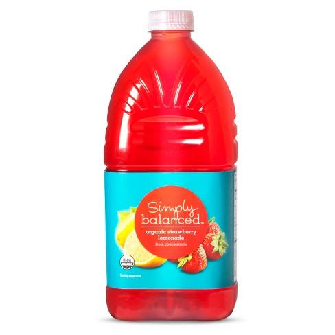 Strawberry Lemonade - 64 fl oz Bottle - Simply Balanced™ - image 1 of 2