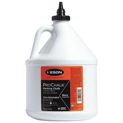 KESON 105BLACK Marking Chalk Refill,Black,5 Lb