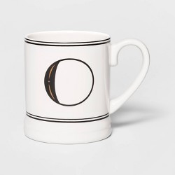 16oz Stoneware Monogram Mug - Threshold™