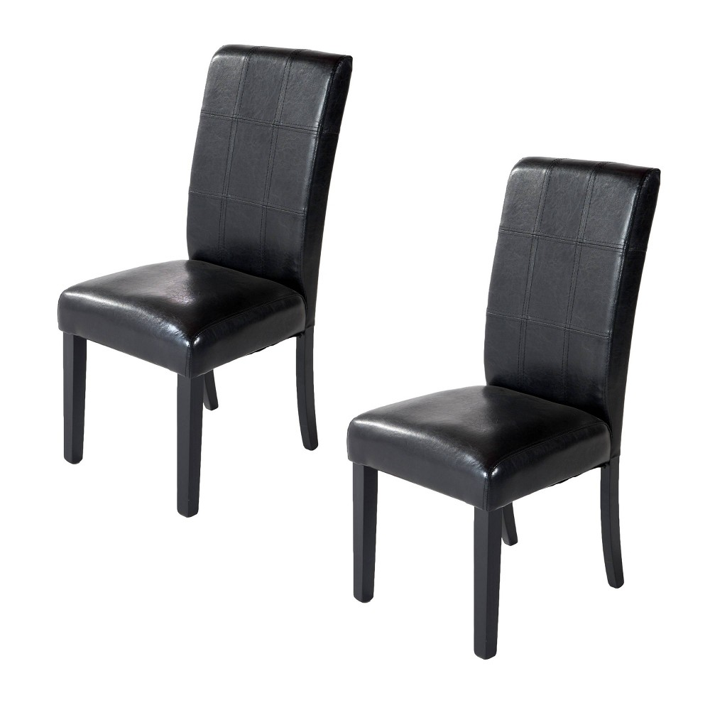 Image of Eclipse Side Chairs Black Set of 2 - Home Source Industries