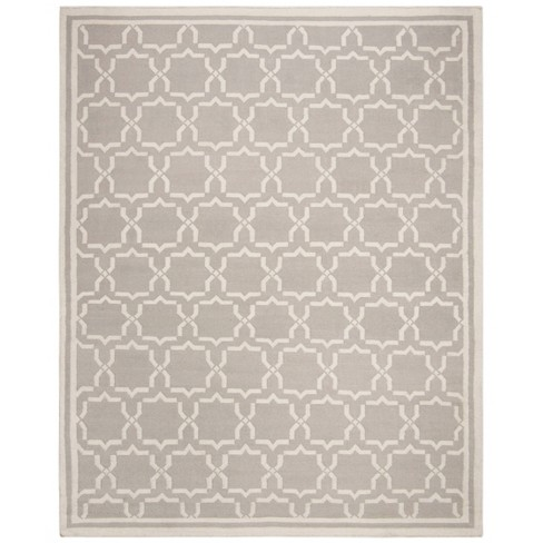 Casablanca Dhurry Rug - Grey/Ivory - (10'x14') - Safavieh - image 1 of 5