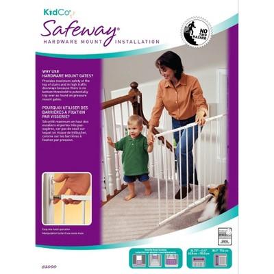 KidCo Safeway Wall Mounted Baby Gate - White