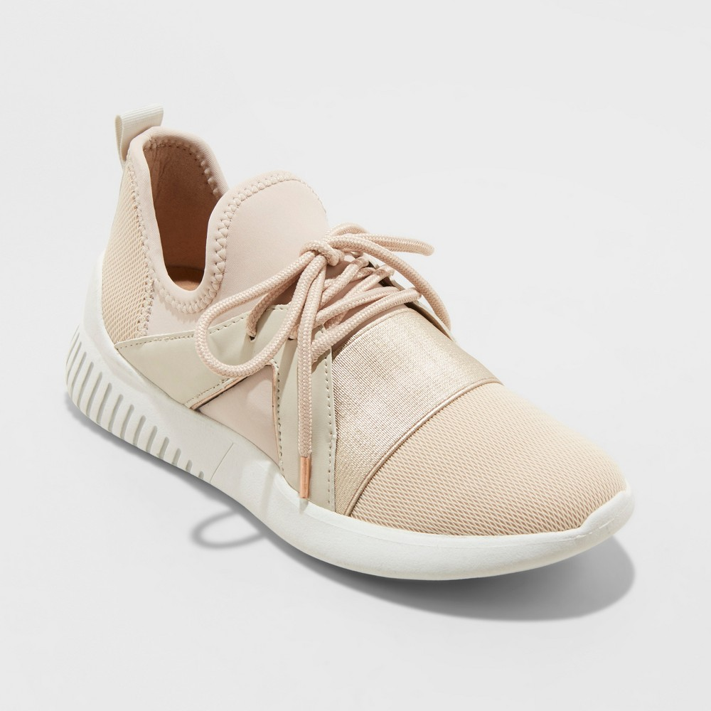 Women's Rhayne Lace Up Sneakers - A New Day Blush 7