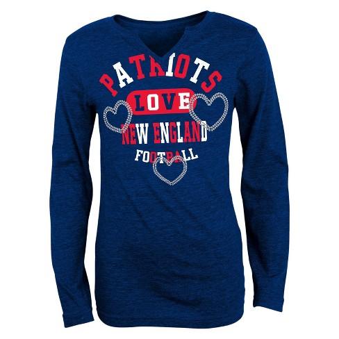 New England Patriots Girls V-Neck T-Shirt   Target ee9d56e07