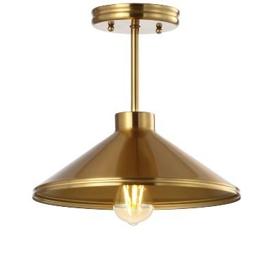 "11.75"" Iron Cisco Modern Farmhouse LED Pendant - Jonathan Y"