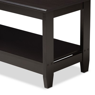 Malena Modern And Contemporary Finished Coffee Table Dark Brown - Baxton Studio : Target