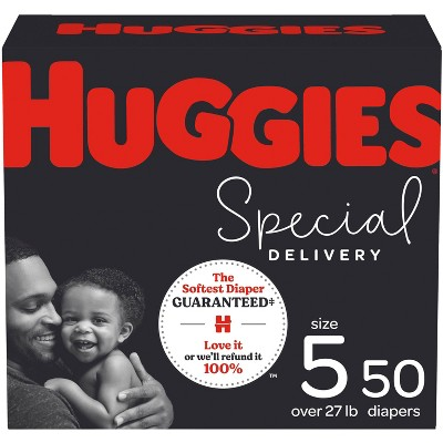 Huggies Special Delivery Hypoallergenic Baby Disposable Diapers Super Pack - Size 5 - 50ct