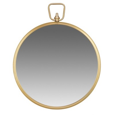 22  Wall Mirror with Decorative Handle Gold - Patton Wall Decor