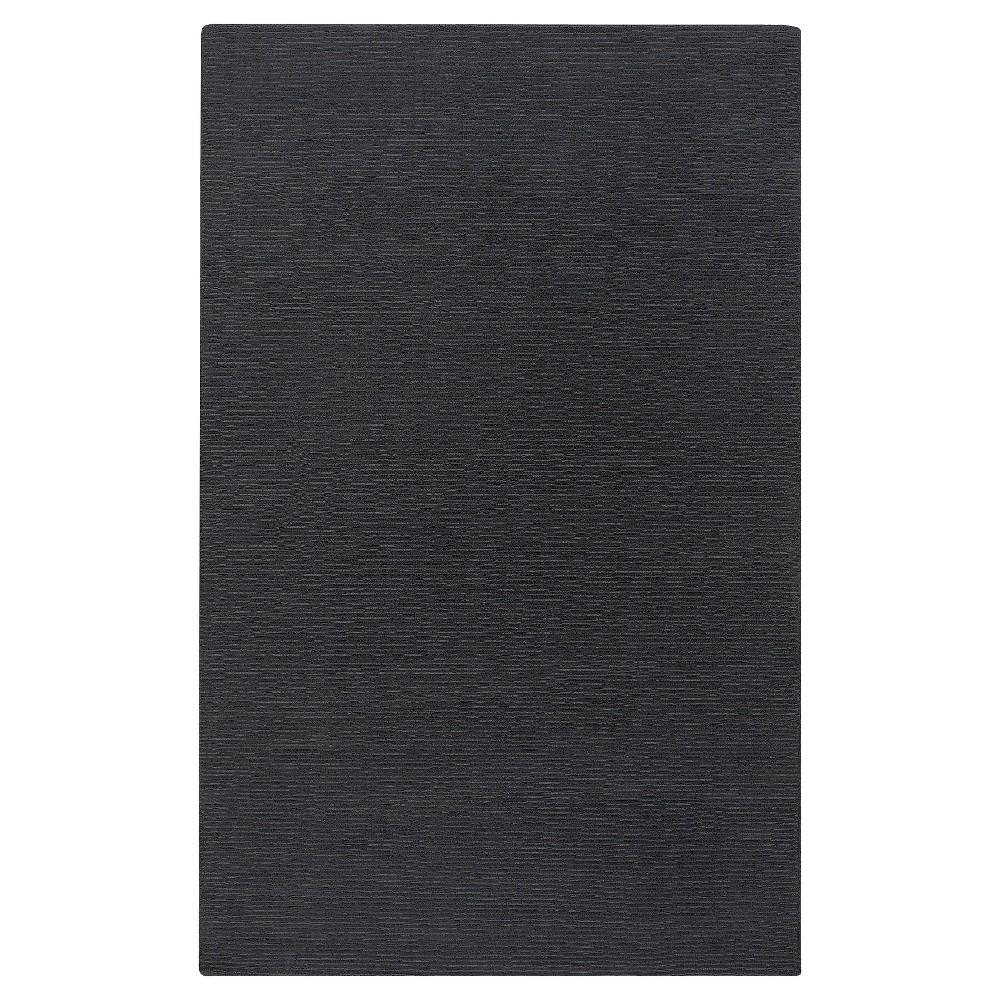 Dark Gray Solid Loomed Area Rug - (6'X9') - Surya, Grey