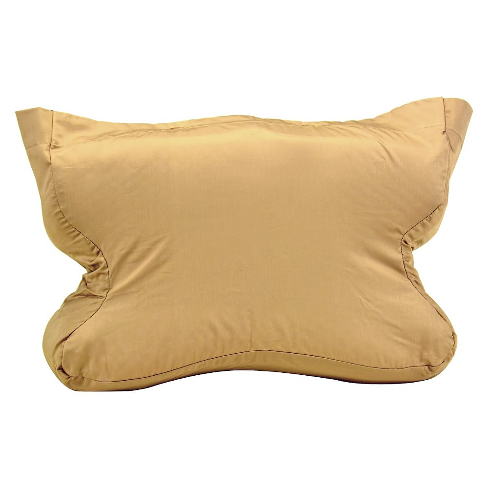 Image of Contour Products CPAP MAX Pillow Case - Cream (Standard), Brown White