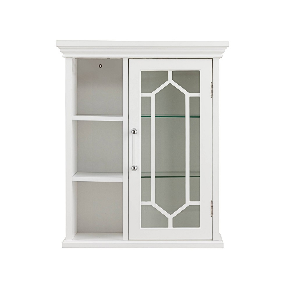 Toulouse Wall Cabinet with Cubies White - Elegant Home Fashions