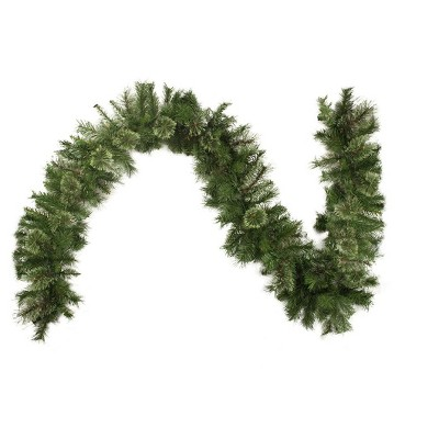 "Northlight 9' x 14"" Unlit Cashmere Mixed Pine Artificial Christmas Garland"