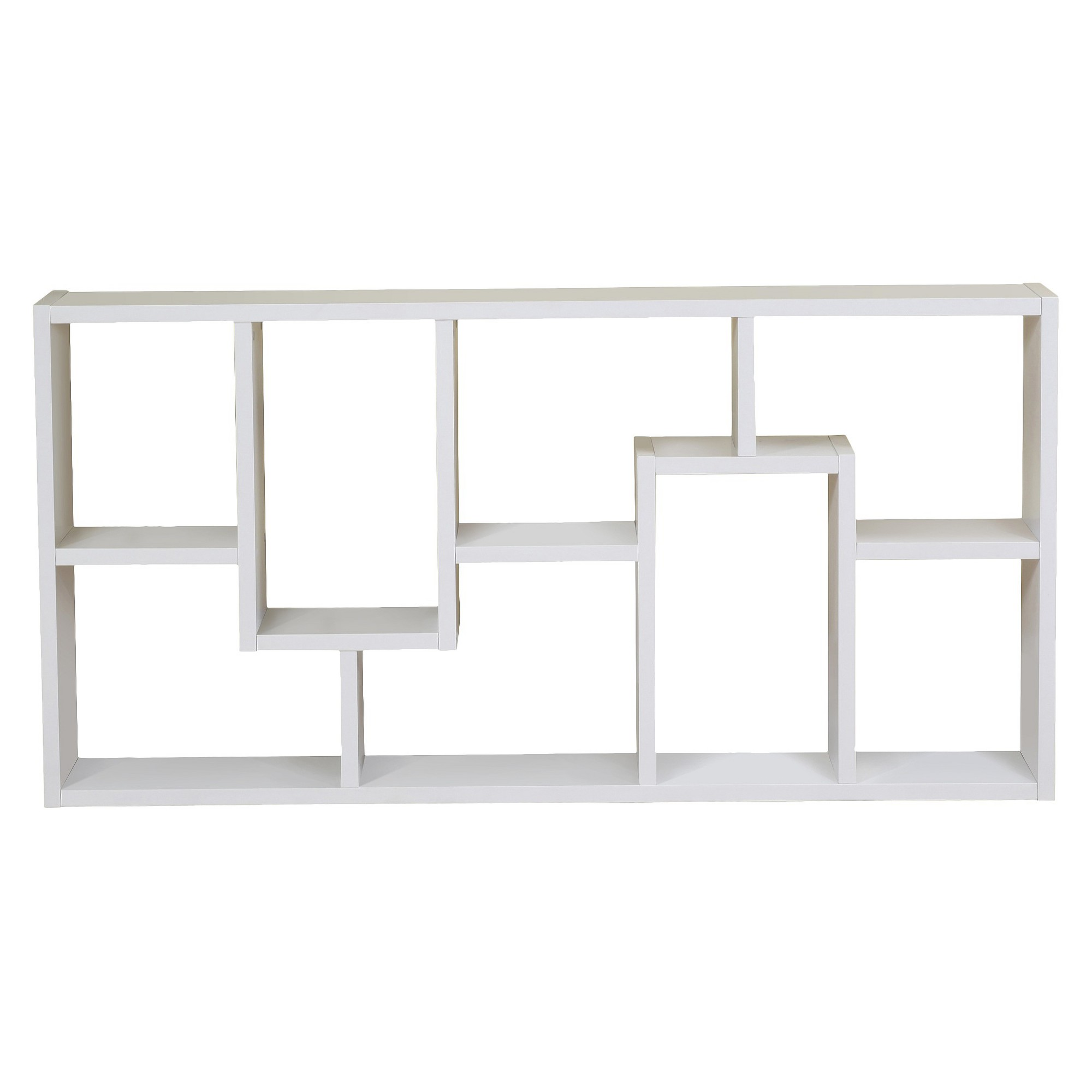 '71'' Highpoint Contoured Bookcase White - ioHOMES'