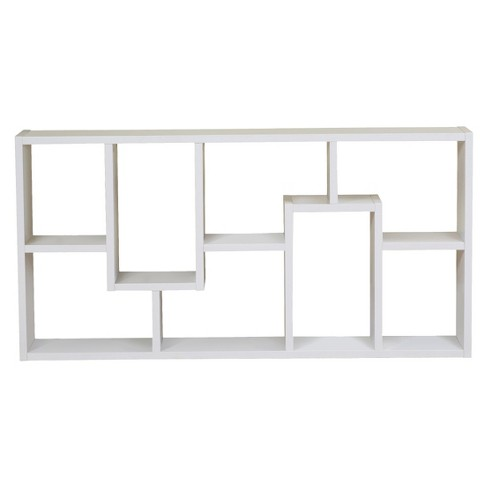 "Highpoint Contoured 71"" Bookcase White - HOMES: Inside + Out - image 1 of 3"