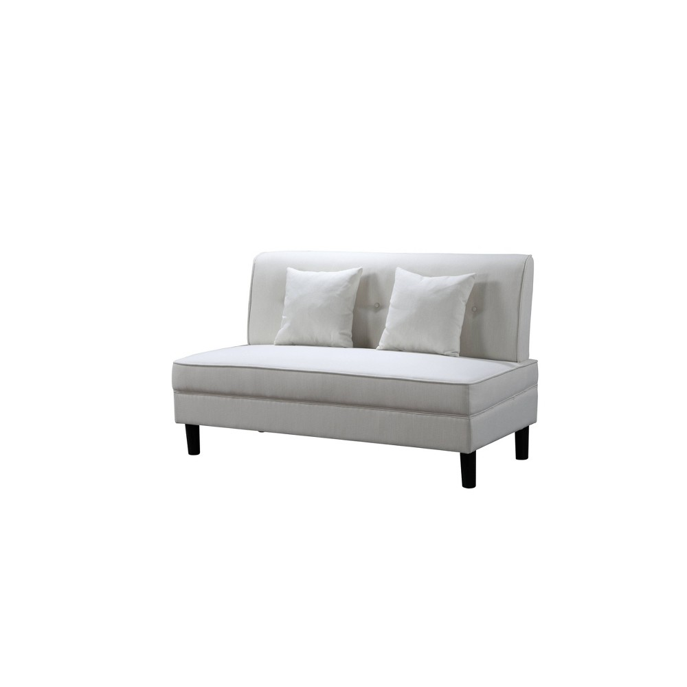 Cool Gretta Fabric Armless Sofa Gray Abbyson Living Caraccident5 Cool Chair Designs And Ideas Caraccident5Info