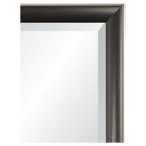 Rectangle Cypress Decorative Wall Mirror with Black/Silver Frame ...