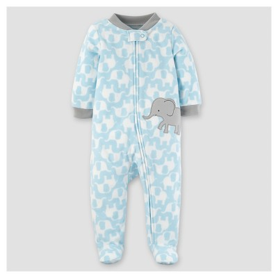 Baby Boys' Poly Fleece Elephant Sleep N' Play - Just One You™ Made by Carter's® Turquoise NB