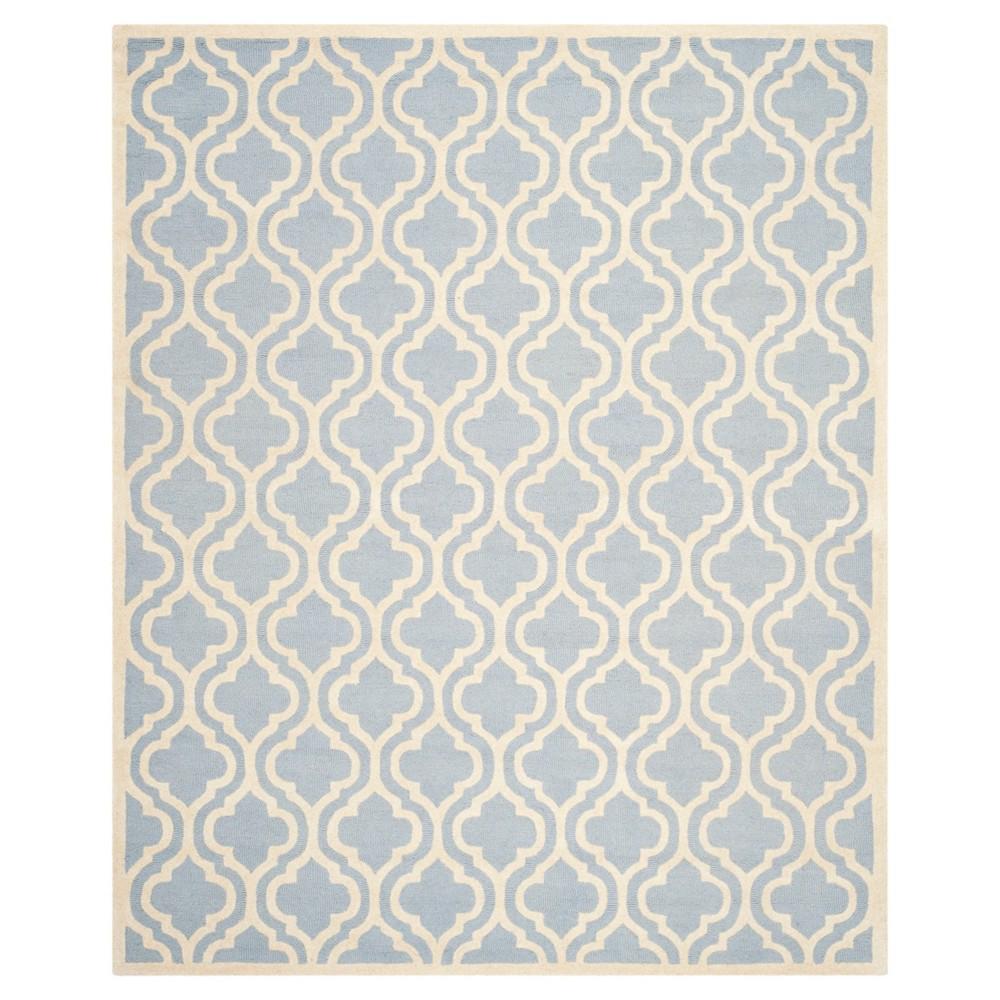 Geometric Area Rug Light Blue/Ivory