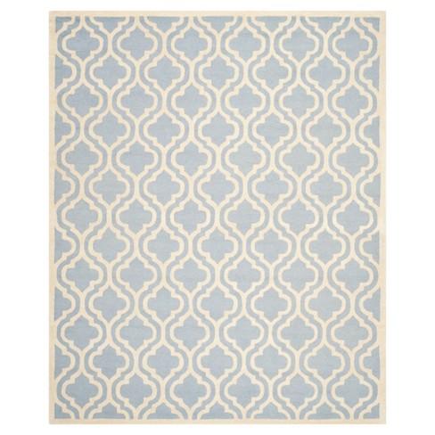 12'X18' Geometric Area Rug Light Blue/Ivory - Safavieh - image 1 of 2