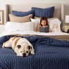Family Friendly Stripe Comforter & Pillow Sham Set Navy - Threshold™ - image 4 of 4