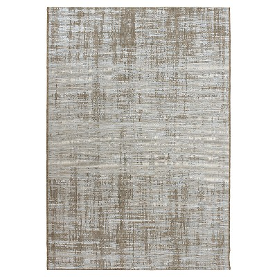Orian Rugs Breeze Collection Indoor/Outdoor Distressed Perfection Area Rug - Light Blue/Brown