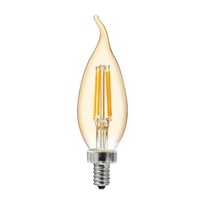General Electric 40W VintaDeco CAC Filament Amber LED Light Bulb White